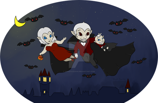 Vampires, the Blood Addict Family (First Smile) by AnneFaizuani