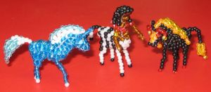 Beaded Bella Sara horses Luminos, Artemis, Aries by Anabiyeni