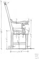 Chair 2 Side Elevation by JPaulDesigns