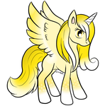 Lemon Sherbert Alicorn Adopt - CLOSED by Piyos-Adoptables