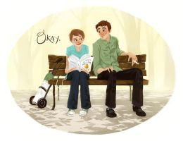 Hazel and Augustus by siminib