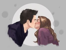 Stiles and Malia by PolliPo
