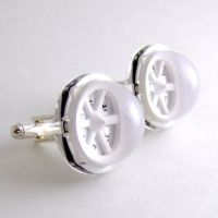 White LED Array Cufflinks by Techcycle