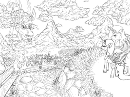 Welcome to Discordville [Commission Sketch] by Masdragonflare