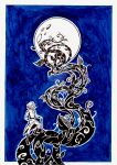 Baron Munchausen on moon by KatDr