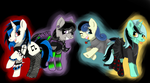 R - Goth Ponies by drippykitty