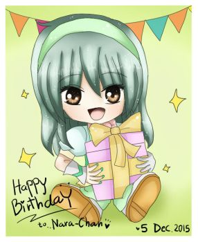 Chibi:Nara's Birthday by Ferina-san