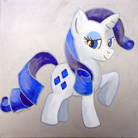 Rarity Painting by BrownWolfFM