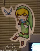 OoT-WW Link Paperchild by zelos22
