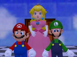 Mario Family Photo by GlitchyProductions