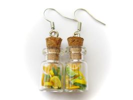 Fruity Bottle Earrings by PumpkinDream