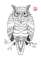 Owl Tattoo Design by Laranj4