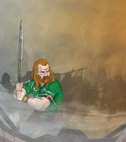 Connacht Rugby-Celtic Warrior by morganobrienart