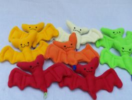 Hanging bat plushes by omfgitsbutter
