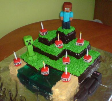 Minecraft Cake 1 by Aranel-Inglorion