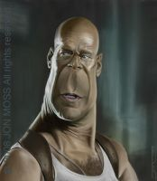 Bruce Willis Caricature by jonmoss77