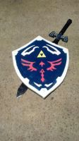 Dark link master sword and Hylian Sheild by NovaLink