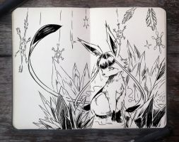 #283 Glaceon by 365-DaysOfDoodles