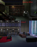 izayas office in sims 2 style by Louchii-Art