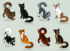 Cat Adoptable Batch 1 OPEN by Dawn-Adopts