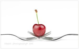 Cherry on forks by shatinn
