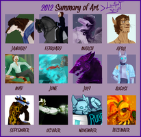 Year In Art - 2012 Edition by Hearsepower