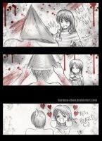 -- SH: Pyramid Head's face -- by Kurama-chan