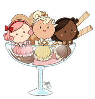 neapolitan ice cream by meago