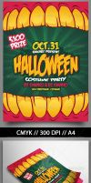 Halloweeen Party Flyer by snkdesigns