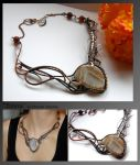 Emma- wire wrapped copper necklace by mea00