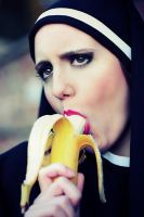 Nun with banana by maille91
