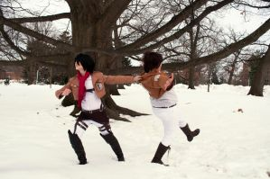 winter shoot attack on titan no Eren by superjacqui