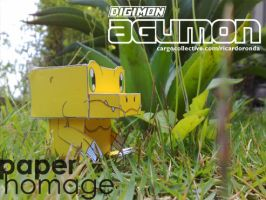 Paper Homage - Agumon by RZ-Ronda