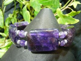 amethyst bangle by BacktoEarthCreations