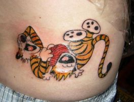 Tattoo 5 - Calvin and Hobbes by midnightsabotage