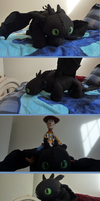 3FT Toothless Plush Finished by GuyZombie