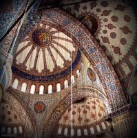Blue Mosque Dome by lostknightkg