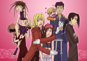 Ouran Host Club - FMA Cosplay Wallpaper by Takethra