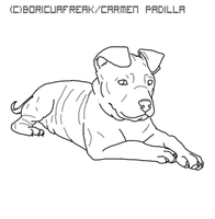 APBT lineart by BoricuaFreak