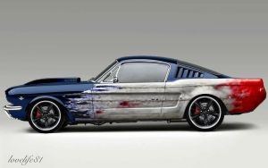 Blue Fastback - Foose Wheels by lovelife81