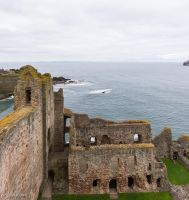 Tantallon Castle - North Range from Inner Court by LordMajestros