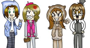 Regular show dressup with my friends by TVZRandomness