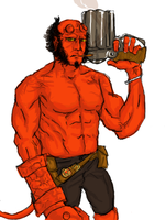 HELL BOY II RED by kaiba6