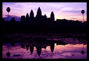 Angkor Wat at Sunrise by amigaboi