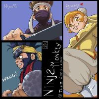 Ninja Monkey Main Cast by The-Z
