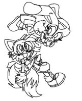 frankie and cream lineart by tailsfan1996