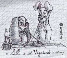 Lady and the tramp_Disney by Starlightina88