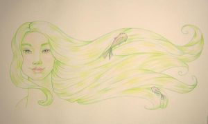 Green Mermaid by khallion