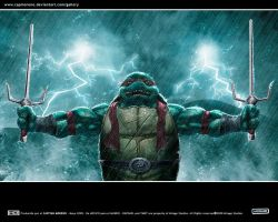 Raph Square cut Wallpaper by CapMoreno