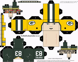 Tom Crabtree Packers Cubee by etchings13